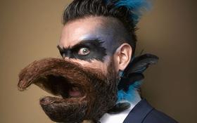 Để râu không phải là dê, để râu là để mân mê cho đỡ buồn