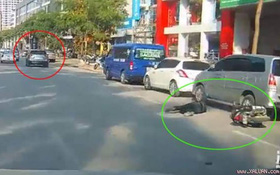 Triệu tập phó giám đốc lái xe Mazda CX 5 lạng lách, tông vào người đi xe máy rồi bỏ chạy