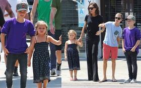 Harper ra dáng thiếu nữ xinh xắn, Cruz ngày càng đẹp trai giống bố Beckham