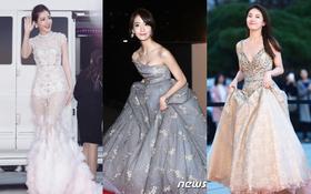 """Thảm đỏ Asia Artist Awards: Chi Pu nổi bật, Yoona o ép vòng một bên """"nữ thần"""" Suzy"""