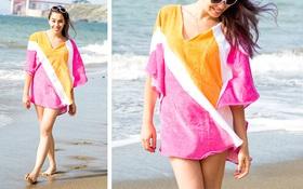 Ai đang định đi biển thì bỏ túi ngay cách làm áo khoác tắm siêu tiện này thôi!