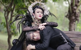 """Huỳnh Lập hóa Lâm Khánh Chi trong phiên bản parody của MV """"Tình Cờ Gặp Nhau"""""""
