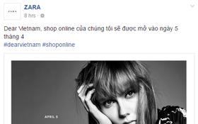 Tin cực vui: Zara Việt Nam sẽ bán hàng online bắt đầu từ 5/4 tới