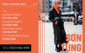 """Seoul Fashion Week: Nổi bật là thế nhưng hóa ra Sơn Tùng chi tiền """"lên đồ"""" chẳng đáng là bao so với người khác"""