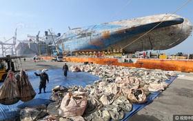 Những di vật được tìm thấy trong xác phà Sewol sau 3 năm chìm dưới đáy đại dương