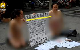 Để có tiền cho bạn trai mắc bệnh máu trắng điều trị, cô gái trẻ mặc nội y quỳ gối giữa đường cầu cứu