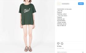 Ảnh quảng cáo của shop thời trang tại Hà Nội khiến người xem giật mình vì người mẫu trông như không mặc quần