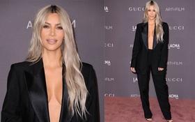 """Lần đầu tiên trong lịch sử, Kim Kardashian """"thả rông"""", hở bạo mà vẫn đẹp xuất sắc"""