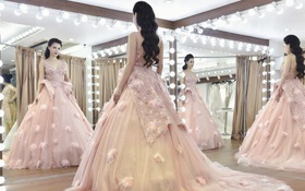 MC Minh Hà lộ ảnh thử váy cưới đẹp như nàng tiên cá