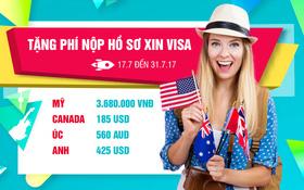 Miễn phí xét visa khi đăng ký du học Mỹ, Anh, Úc, Canada