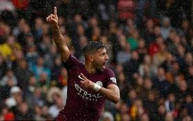 Aguero lập hat-trick, Man City cướp ngôi số 1 của Man Utd