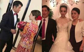 Cuối cùng cô dâu hotgirl đã xuất hiện, Quách Phú Thành nghẹn ngào xúc động trong hôn lễ