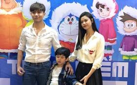 Tim và Trương Quỳnh Anh dẫn con đi xem phim giữa lùm xùm ly hôn