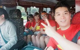 Kiều bào ở Hàn Quốc vượt hàng trăm cây số cổ vũ U20 Việt Nam