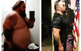 Không hề phẫu thuật, người đàn ông này đã giảm gần 100kg trong vòng 14 tháng