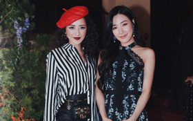 Chi Pu diện style lạ, trò chuyện vui vẻ với Tiffany trong sự kiện ra mắt BST H&M x ERDEM tại Mỹ
