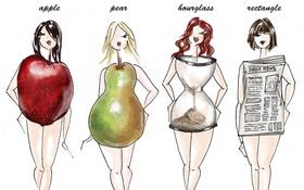 Nhìn ngay xuống cơ thể xem bạn thuộc mẫu hình nào để áp dụng chế độ ăn uống tốt hơn