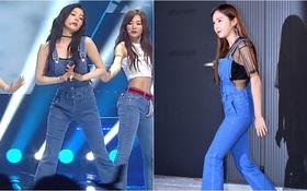 Không hẹn mà gặp, cả Irene lẫn Jessica đều mặc chung một kiểu quần yếm