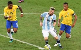 Messi chơi mờ nhạt, Argentina thắng may mắn Brazil