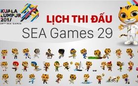 Lịch trực tiếp các môn thể thao tại SEA Games 29
