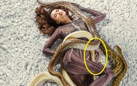 """""""Next Top Model"""" photoshop ẩu vì mải ghép trăn cho thí sinh?"""