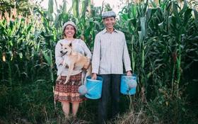 """""""25 năm gắn bó cánh đồng"""": Thương bố mẹ cả đời làm ruộng vất vả, chàng trai trẻ đã dành tặng cả hai 1 bộ ảnh giản dị nhưng đầy tình yêu thương"""