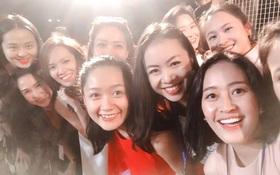 Không khí buổi luyện tập cho đêm trình diễn thời trang hiếm hoi quy tụ hơn 30 BTV Đài truyền hình Việt Nam