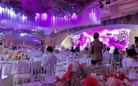 Cận cảnh hội trường lộng lẫy nơi diễn ra hôn lễ của Thu Thảo và ông xã Trung Tín