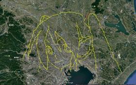 Quá hâm mộ ca sĩ ảo Hatsune Miku, chàng trai Nhật hùng hục đi bộ gần hai tháng để vẽ tranh bằng GPS