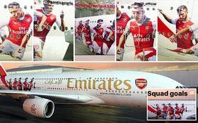 """Cận cảnh máy bay sang chảnh như khách sạn 5 sao nhà tài trợ """"thửa"""" riêng cho Arsenal"""
