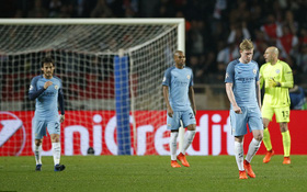 Man City bị loại khỏi Champions League sau trận thua đậm Monaco