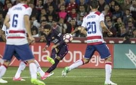 Neymar ghi bàn thứ 100 cho Barca trong ngày vắng Messi