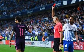 Neymar nhận thẻ đỏ, Barca tự bắn vào chân mình