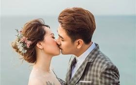 Huy Nam ngọt ngào hôn bà xã trong ảnh cưới đẹp như mơ