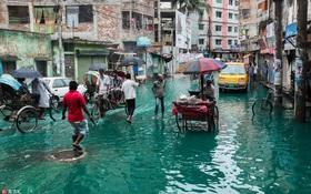 Cứ ngỡ bức ảnh nước lũ xanh ngắt này là sản phẩm của photoshop, nhưng sự thực lại khiến nhiều người bất ngờ