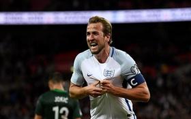 Đội trưởng Harry Kane ghi bàn quyết định phút bù giờ giúp Anh có vé tới Nga