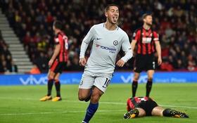 Hazard ghi bàn duy nhất, Chelsea đòi lại vị trí thứ 4 từ tay Arsenal
