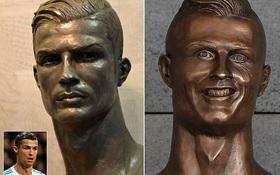 Cuối cùng, tượng điêu khắc Ronaldo cũng đẹp trai hơn