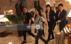 Yoona thay trang phục năng động trở về khách sạn nghỉ ngơi trước khi ra sân bay