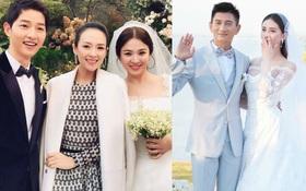 Từ chuyện Chương Tử Di mặc đồ trắng tại hôn lễ Song Song bị cho là mất lịch sự đến khác biệt trong đám cưới sao Hoa - Hàn