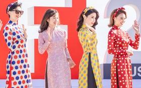 """Đâu cần cầu kì hay hở bạo, chỉ cần mặc áo dài mà bộ tứ """"Cô Ba Sài Gòn"""" cũng đủ gây ấn tượng tại LHP Busan"""