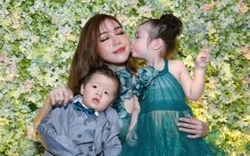 """Elly Trần khoe vóc dáng gợi cảm, hạnh phúc xuất hiện cùng 2 """"thiên thần"""" Cadie và Alfie"""