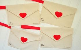 Làm phong bì vải dễ thương trao gửi thông điệp yêu thương ngày Valentine