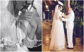 Đăng hình đeo nhẫn cưới, mặc váy cô dâu, Nhã Phương càng khiến fan xôn xao nghi vấn kết hôn với Trường Giang