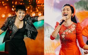 """Clip: """"Rocker"""" Phương Thanh, Hòa Minzy khiến khán giả """"nổi da gà"""" với những nốt cao máu lửa trong đêm nhạc kỷ niệm 20 năm Làn Sóng Xanh"""