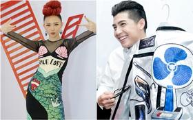 """The Voice: Noo Phước Thịnh khoe áo """"điện máy xanh"""", Tóc Tiên làm nàng tiên cá"""