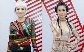 """The Voice: """"Choáng"""" với Thu Minh tóc bạc trắng và """"chiến binh"""" Đông Nhi"""