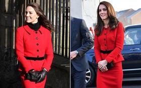 """Công nương Kate """"tiết kiệm"""" tột cùng, mang váy cũ từ... 6 năm trước ra mặc lại"""