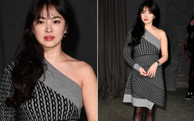 """Dự show Burberry, Song Hye Kyo xinh đẹp nhưng lại mất điểm vì chiếc váy """"nuốt"""" hết đường cong"""