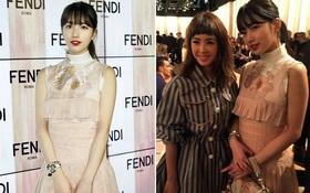 """Cùng dự show Fendi, Suzy đẹp rạng ngời làm lu mờ cả """"nữ hoàng gợi cảm"""" xứ Đài Thái Y Lâm"""